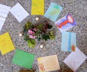 Tekeningen van hoop (foto's Greet Kappers)
