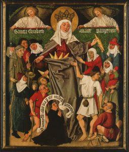 Elisabeth von Thüringen, deel van een triptiek, rond 1480